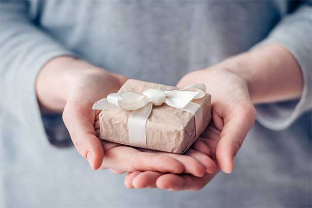 Offering a present - Simple Gift Giving