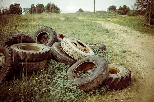 Earth Day - Old Tires